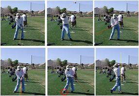 73歳K様がゴルフレッスンを受けられました。